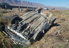 واژگونی خودرو پراید در فیروزکوه